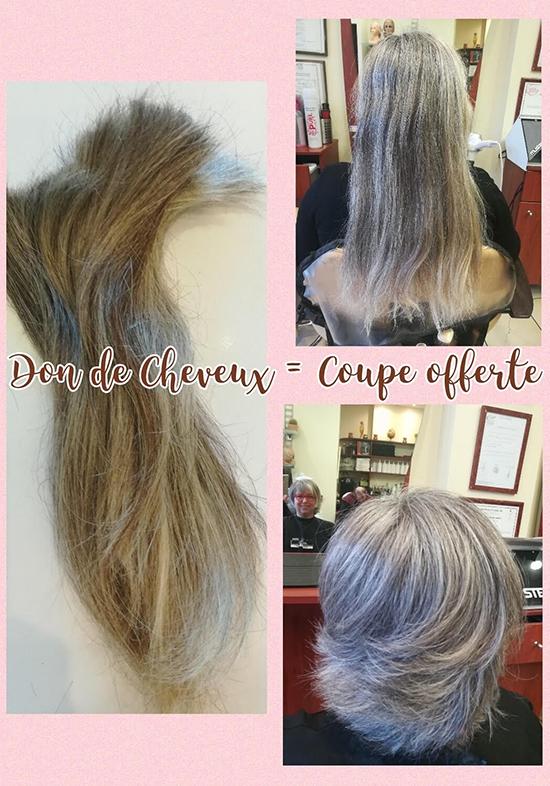 Montage photo don de cheveux