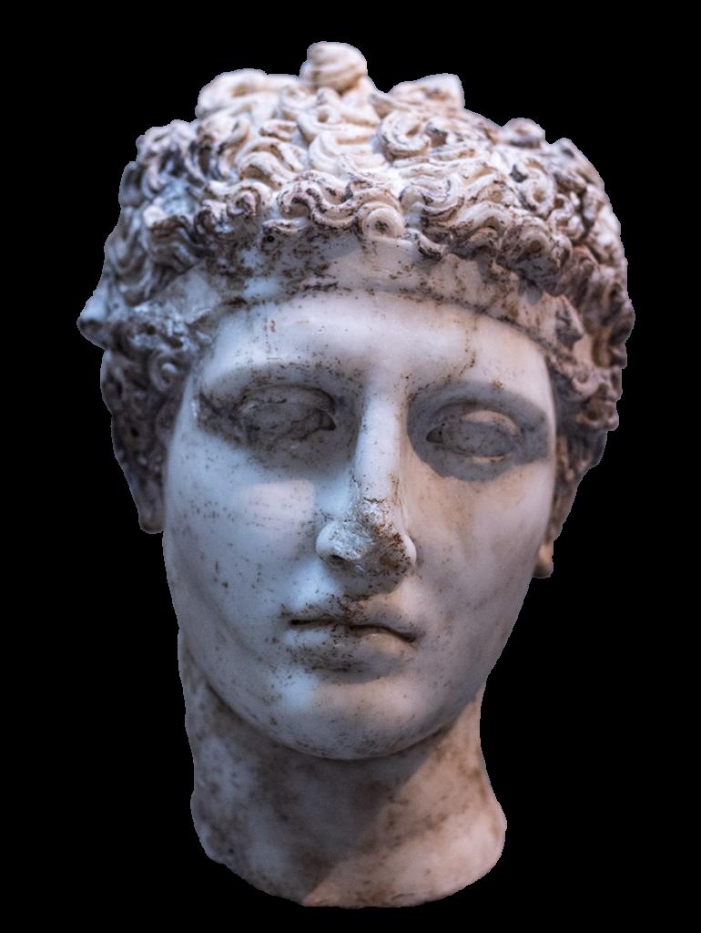 Tête de statue de Grèce Antique